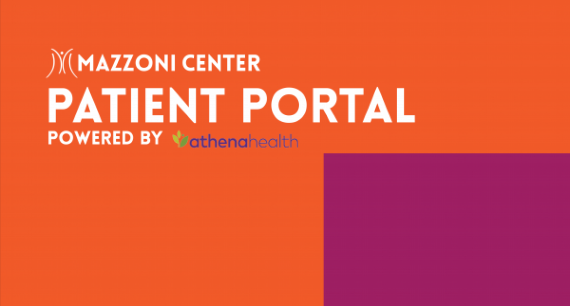 Image saying Mazzoni Center Patient Portal Power By Athena Health